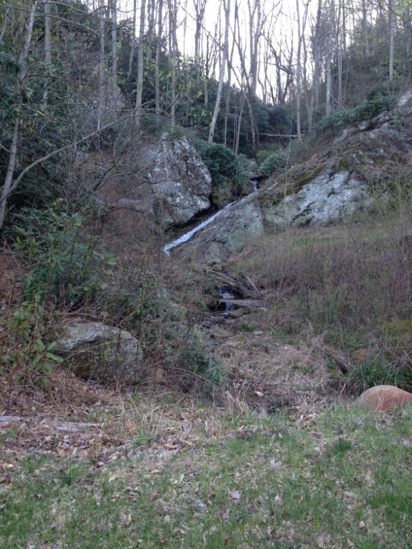 Waterfall in the picnic area