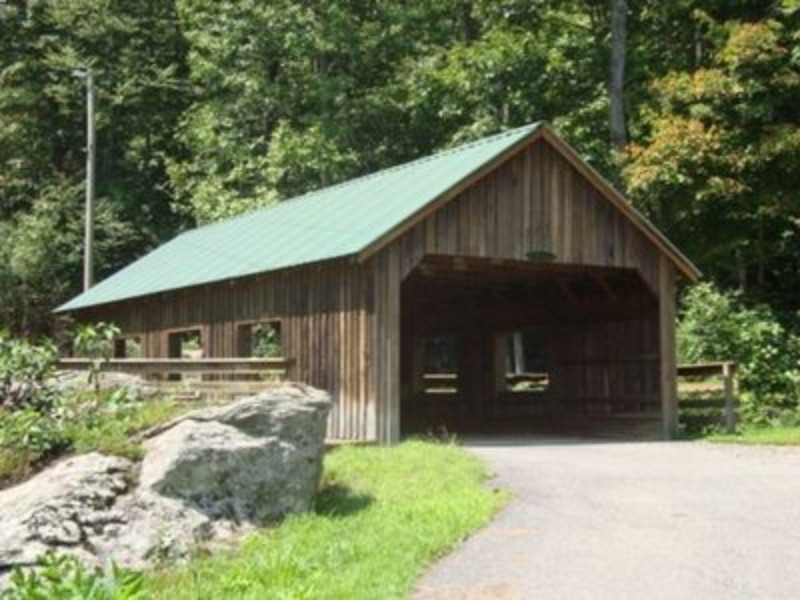 Covered Bridge at the Picnic Area -- Wanna have a picnic by a covered bridge?