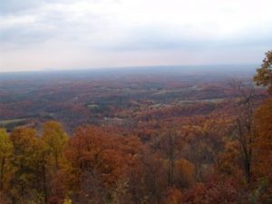 Fall Foliage View of Virginia and North Carolina