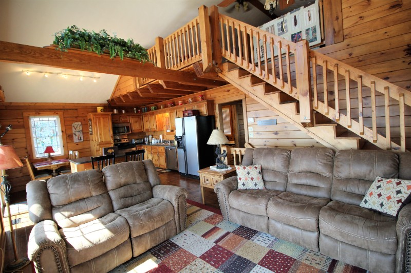Living Room, Loft, and Kitchen
