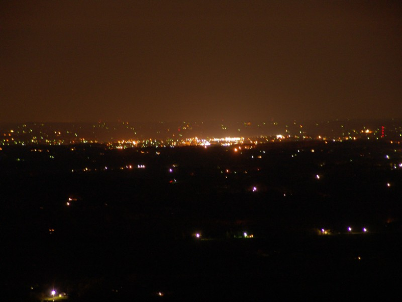 Night Liglht View of Mt. Airy, North Carolina