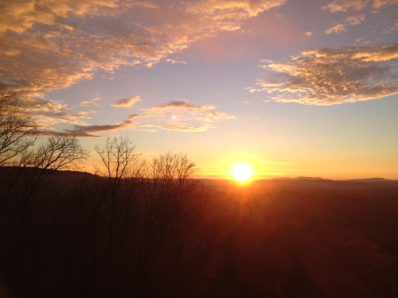 Sunset View Over the Mountains from the Cabin - 800