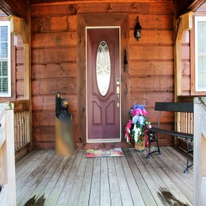 Front Door Of Pilots Perch Log Cabin