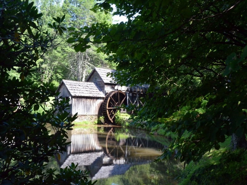 Mabry Mill from the Trees (on the Blue Ridge Parkway)