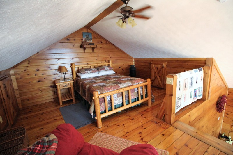 Pilot's Perch Cabin Loft With Queen Log Bed