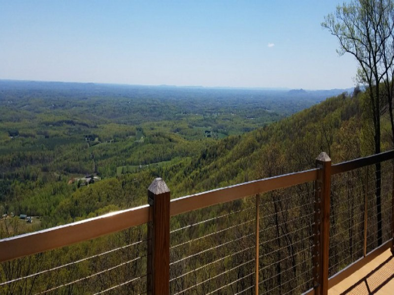 Vacation Rental Cabin Top Deck View - 800x600