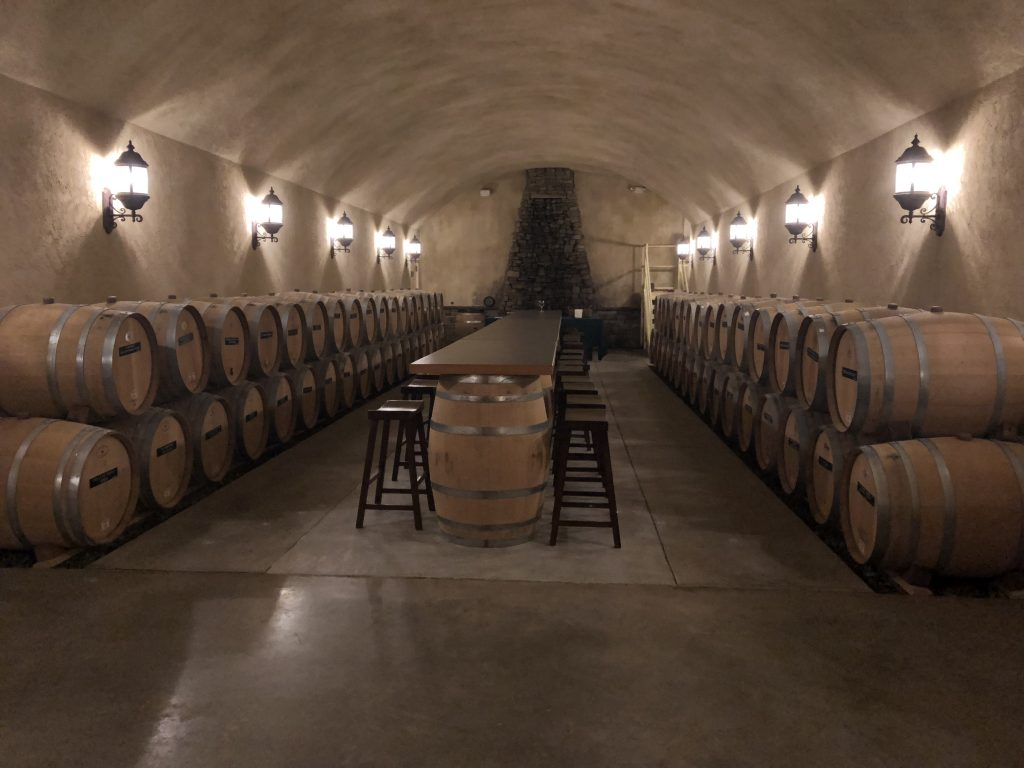 Shelton Vineyard Barrel Room