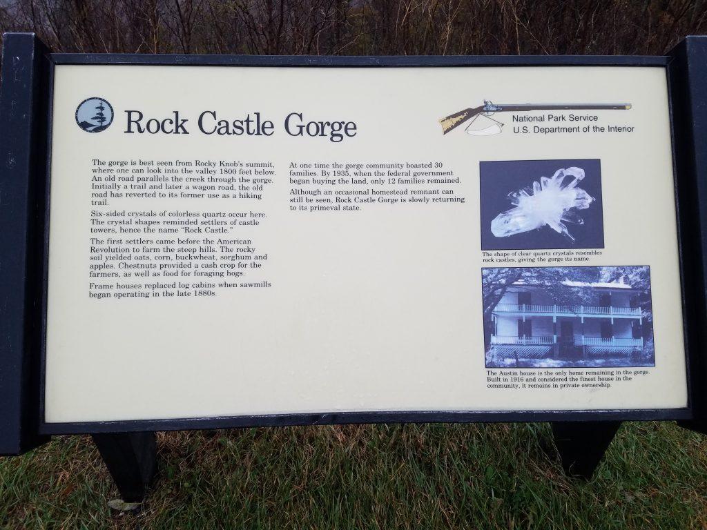 Rock Castle Gorge Sign