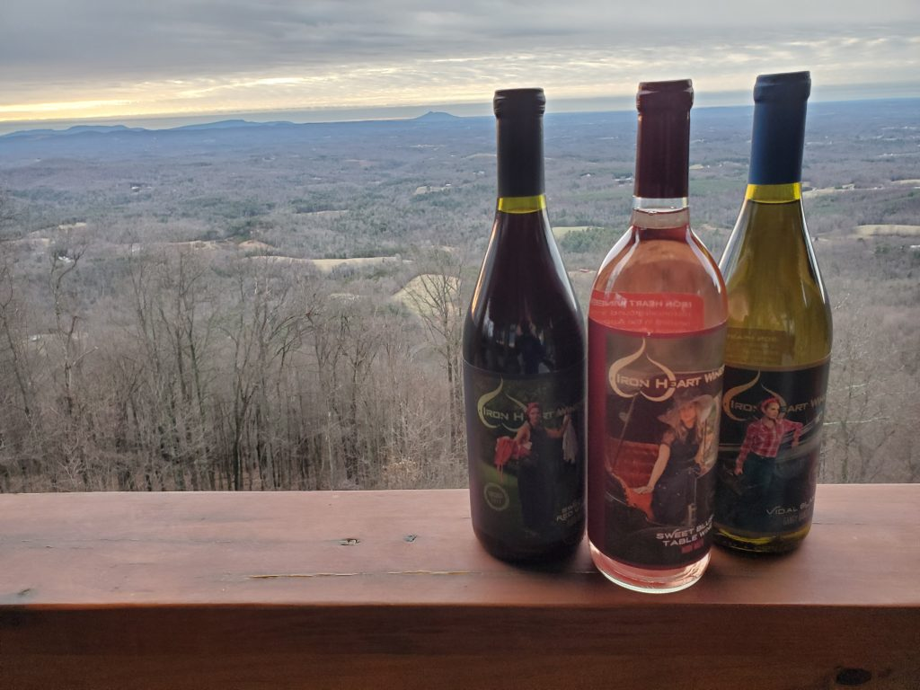 Iron Heart Wines with Pilot Mountain Backdrop