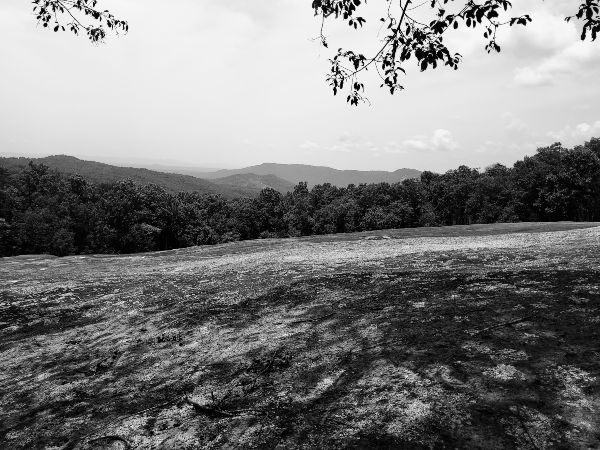 Stone Mountain Views from Top - Black and White