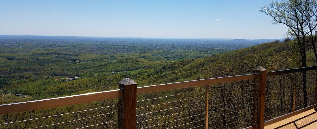 Long Range View of VA/NC Piedmont From Cabin Top Deck